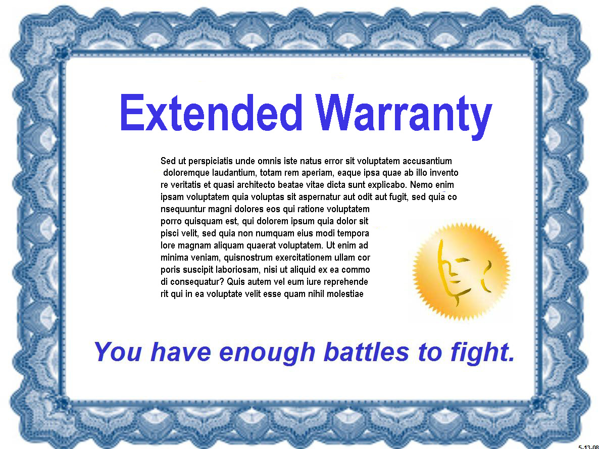Extended car warranty cancellation letter template sample.
